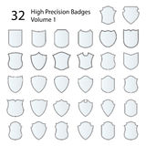 High Precision Badges Set Stock Image