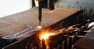 High precision CNC gas cutting metal sheet Stock Images