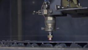 High precision CNC laser welding metal sheet, high speed cutting, laser welding, laser cutting technology, laser welding. Machine stock video