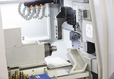 High precision CNC lathe Royalty Free Stock Images