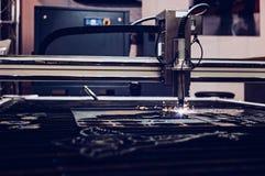CNC plasma cutting machine. High precision CNC plasma cutting machine Royalty Free Stock Photography