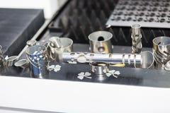 High precision metal sheel part Stock Images