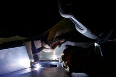 High precision welding Stock Photos