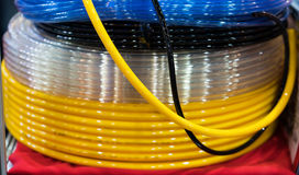 High pressure air hose for industrial machine and equipment Royalty Free Stock Photos