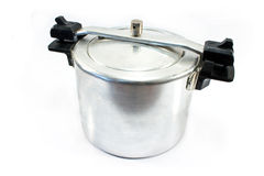 High pressure aluminum cooking pot Stock Images