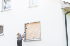 High-pressure cleaning facade Royalty Free Stock Image