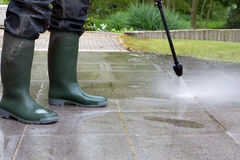 High Pressure Cleaning - 06 Royalty Free Stock Images