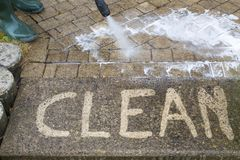 High Pressure Cleaning Royalty Free Stock Photography