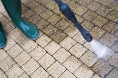 High Pressure Cleaning stock photography