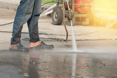 High pressure cleaning Stock Images