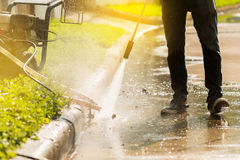 High pressure deep cleaning. Stock Images