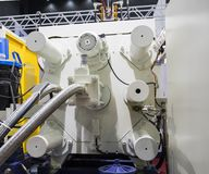 High pressure die casting machine. Detail of aluminum high pressure die casting machine royalty free stock image