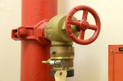 High pressure fire hose valve Stock Image