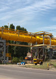 High pressure gas pipeline royalty free stock photo