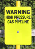 High Pressure Gas Warning Royalty Free Stock Photography