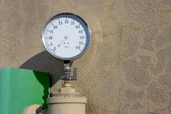High Pressure Gauge Stock Photo