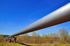 The high pressure pipeline. Stock Images