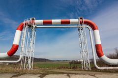 The high pressure pipeline Stock Photography