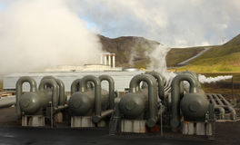 High pressure tanks for thermal energy power plant Stock Photo