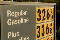 High Price of Gasoline Royalty Free Stock Images