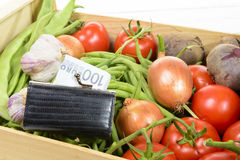 The high price of vegetables Royalty Free Stock Images