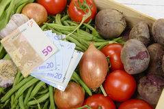 The high price of vegetables Royalty Free Stock Photography