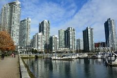 Yaletown,Vancouver BC,Urban living in luxury. Royalty Free Stock Photo