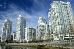 Yaletown,Vancouver BC,Urban living in luxury. Stock Images