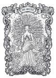 High Priestess. Major Arcana Tarot Card Stock Image