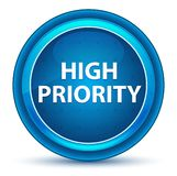 High Priority Eyeball Blue Round Button stock illustration