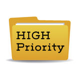 High priority folder Royalty Free Stock Photography