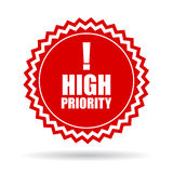 High priority icon Stock Image