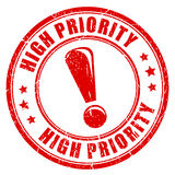 High priority ink vector stamp Royalty Free Stock Images