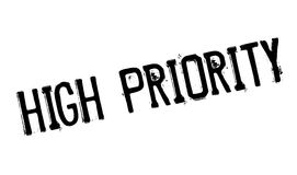 High Priority rubber stamp Stock Photo
