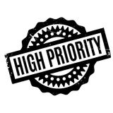 High Priority rubber stamp. Grunge design with dust scratches. Effects can be easily removed for a clean, crisp look. Color is easily changed Stock Photos