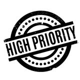 High Priority rubber stamp. Grunge design with dust scratches. Effects can be easily removed for a clean, crisp look. Color is easily changed Royalty Free Stock Photography