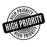 High Priority rubber stamp. Grunge design with dust scratches. Effects can be easily removed for a clean, crisp look. Color is easily changed Stock Photo