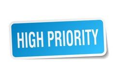 High priority sticker Stock Image