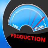 High Production Indicates Made In And Excessive Royalty Free Stock Photos