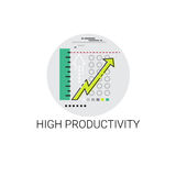High Productivity Financial Growth Graph Success Business Icon. Vector Illustration Royalty Free Stock Photo