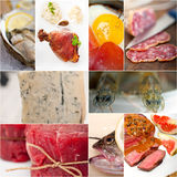 High protein food collection collage Royalty Free Stock Images