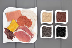 High Protein Food Stock Photos
