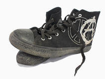 High punk`s gymshoes Royalty Free Stock Image