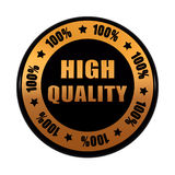 High quality 100 percentages in golden black circle label Stock Photos
