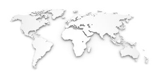 High quality 3D world map Stock Photography