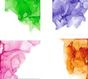 High quality . Alcohol ink modern abstract painting, contemporary details art. royalty free stock photos