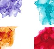 High quality . Alcohol ink modern abstract painting, contemporary details art. stock photos