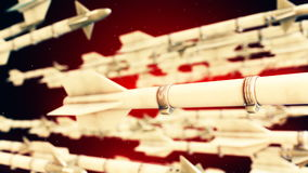 High quality animation of missiles stock footage