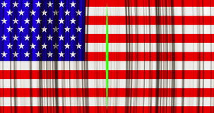 High quality animation perfectly curtain with united states of america, usa flag opening movement background stock video footage