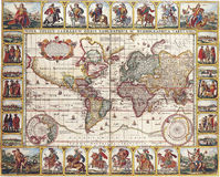 High-quality Antique Map Royalty Free Stock Images